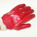 Rękawice PCV czerwone ze ściągaczem