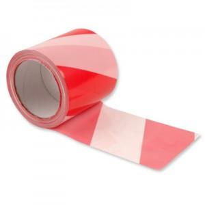 Taśma ostrzegawcza biało-czerwona 8cm x 100m