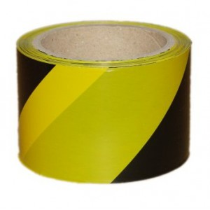 Taśma ostrzegawcza czarno-żółta 8cm x 100m